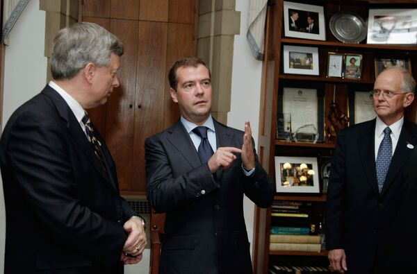 Президент РФ Дмитрий Медведев посетил Питтсбургский университет