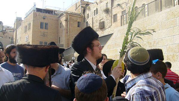 Иудейский праздник Суккот в Иерусалиме. Архивное фото