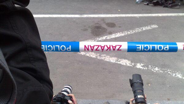 Работа полиции в Праге. Архивное фото