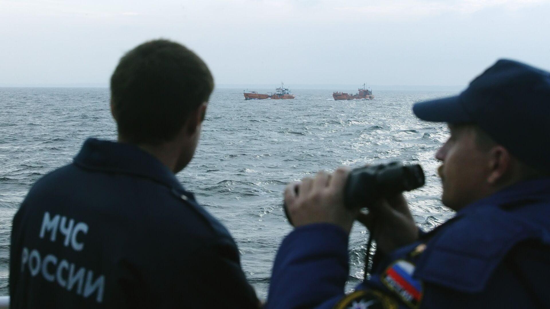 На реке Амур в Хабаровском крае столкнулись два катера