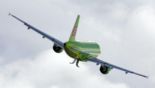 Самолет А319 авиакомпании Сибирь (S7)