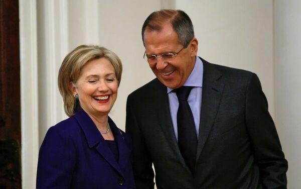 Встреча главы МИД РФ Сергя Лаврова и госсекретаря США Хиллари Клинтон