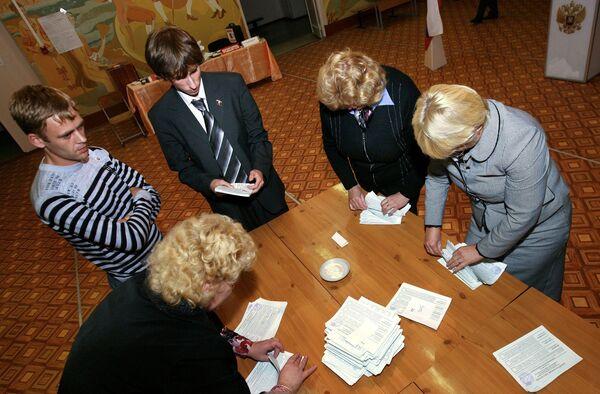 Завершение работы избирательной комиссии