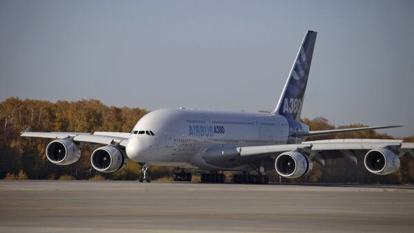 Airbus A380. Архивное фото