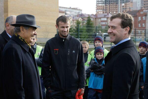 Дмитрий Медведев, Сергей Семак и Минтемер Шаймиев