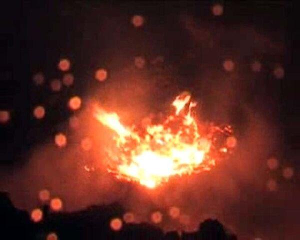 Падение фальшивого метеорита в Латвии. Видео очевидца