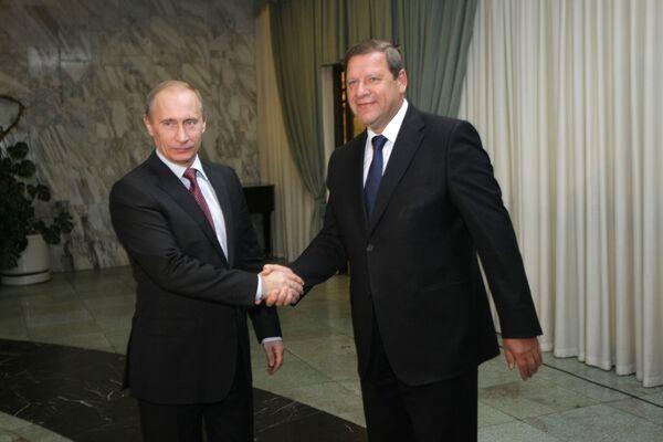 Владимир Путин и Сергей Сидорский (слева направо). Архив