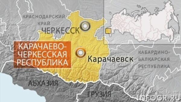 Карачаево-Черкесия, карта