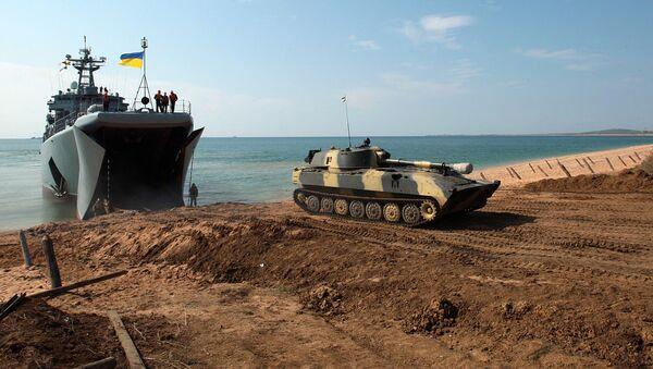 Военные учения ВС Украины. Архивное фото