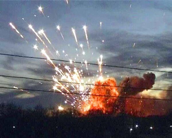 Взрывы на военных складах в Ульяновске. Видео с места событий