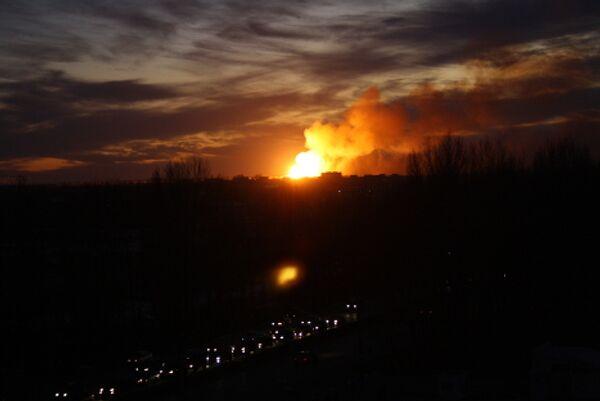 Взрывы на военных складах в Ульяновске