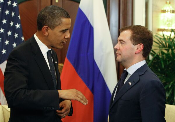 Встреча президента РФ Дмитрия Медведева и президента США Барака Обамы
