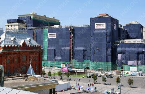 Строящееся здание гостиницы Москва