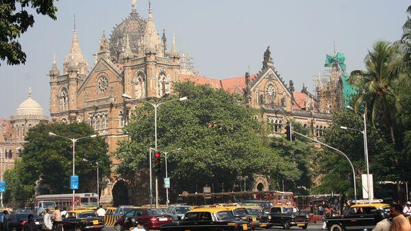 Город Мумбаи, Индия. Вокзал Чхатрапати-Шиваджи