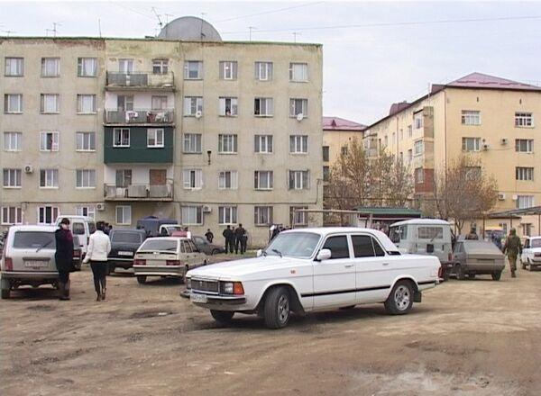 На месте убийства командира отряда СОБР Шапибулы Алигаджиева
