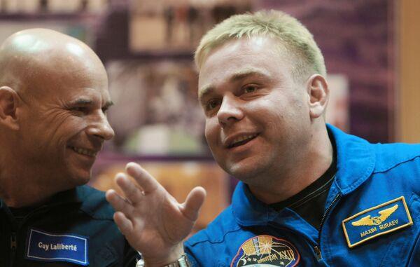 Российский космонавт Максим Сураев