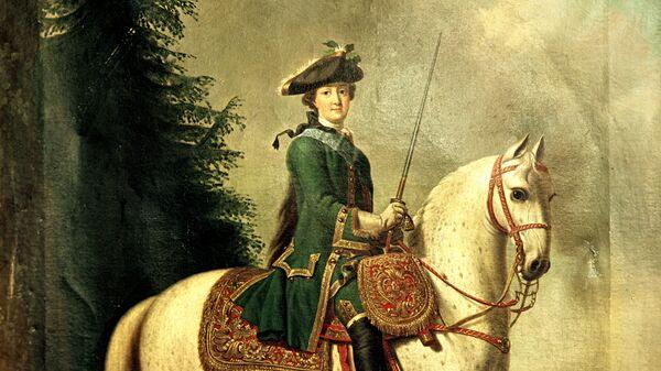 Копия с картины Эриксена Виргилиуса Портрет Екатерины II верхом.