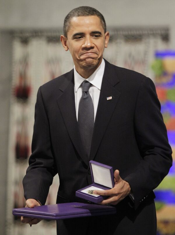 Нобелевская премия мира вручена Бараку Обаме в Осло
