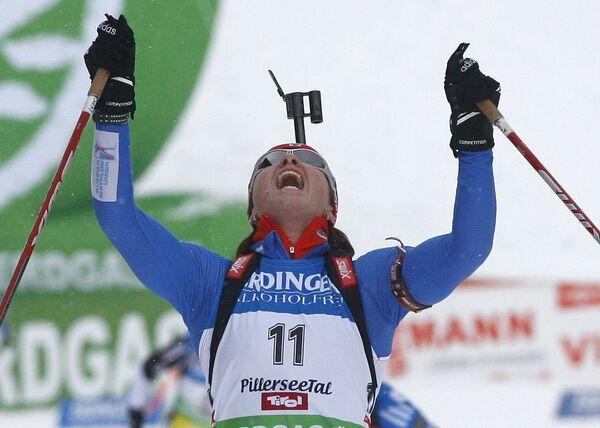 Российская биатлонистка Светлана Слепцова