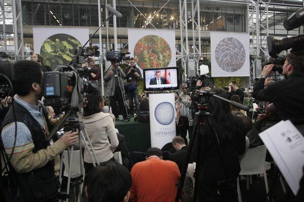 Журналисты, освещающие саммит ООН по климату в Копенгагене