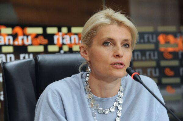 Главный редактор Российского агентства международной информации РИА Новости Светлана Миронюк на пресс-конференции