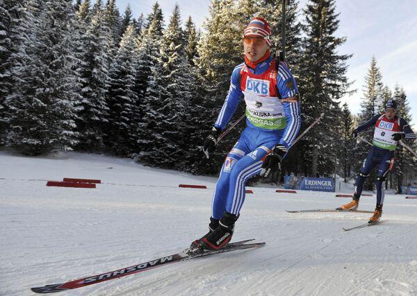 Российский биатлонист Евгений Устюгов
