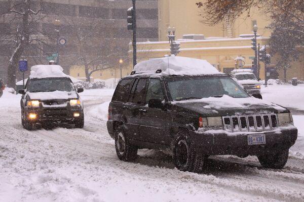 Снегопады в Вашингтоне