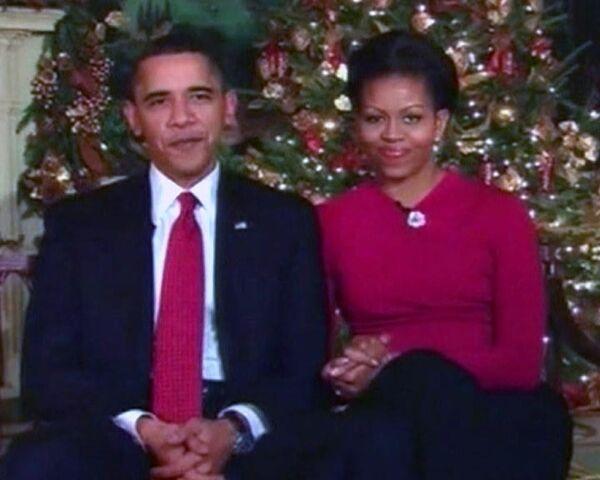 Рождественское поздравление Барака и Мишель Обамы