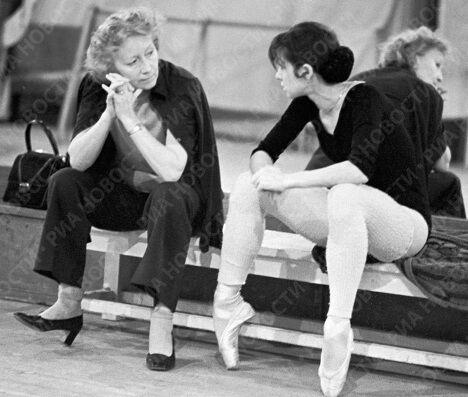 Балерины Уланова и Максимова