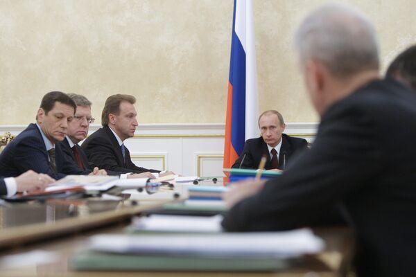 Премьер-министр России Владимир Путин провел заседание Президиума правительства РФ