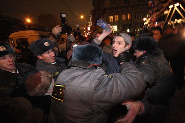 Несанкционированный Марш несогласных 31 декабря в Москве