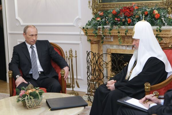Премьер-министр РФ Владимир Путин встретился с Патриархом Московским и всея Руси Кириллом