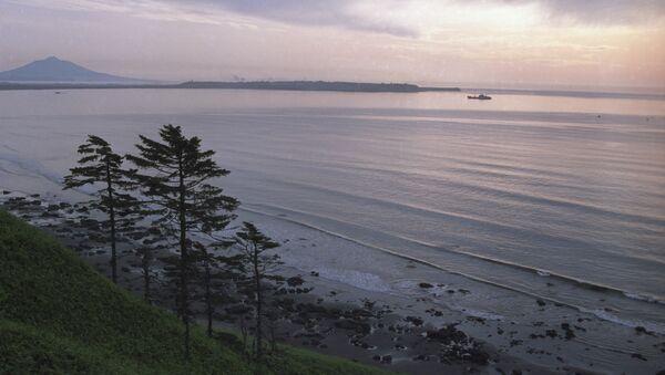 Вид на острова Курильской гряды