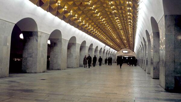 Станция метро Авиамоторная в Москве