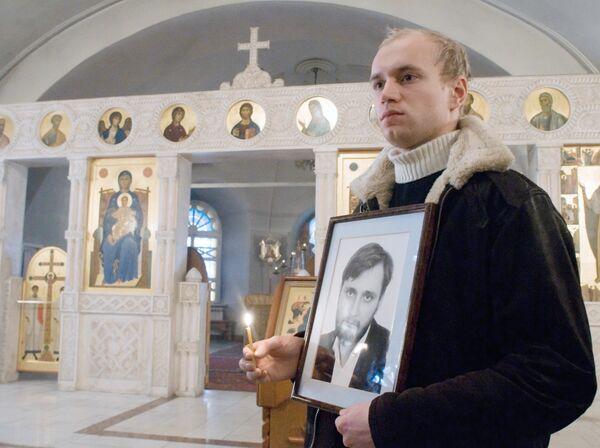 Прощание с погибшим журналистом Константином Поповым в Томске