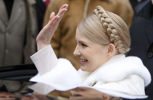 Юлия Тимошенко проголосовала на выборах президента
