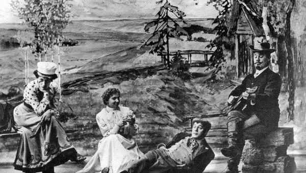 Сцена из спектакля Вишневый сад в постановке Станиславского, 1904 год