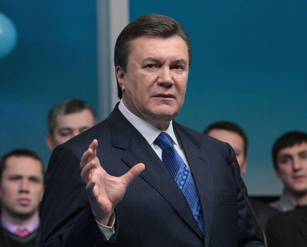 Лидер Партии регионов кандидат в президенты Украины Виктор Янукович