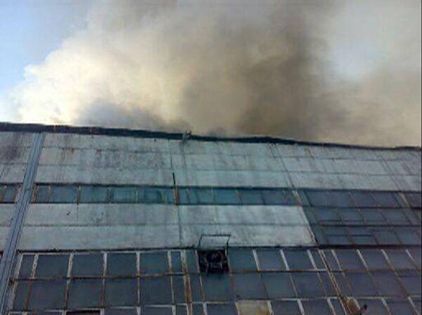 Пожар на предприятии СУАЛ - Порошковая металлургия в Иркутской области