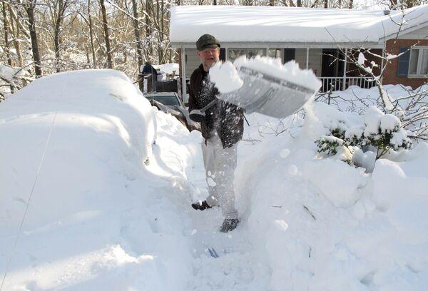 Снегопад в Аннандейле, штат Вирджиния