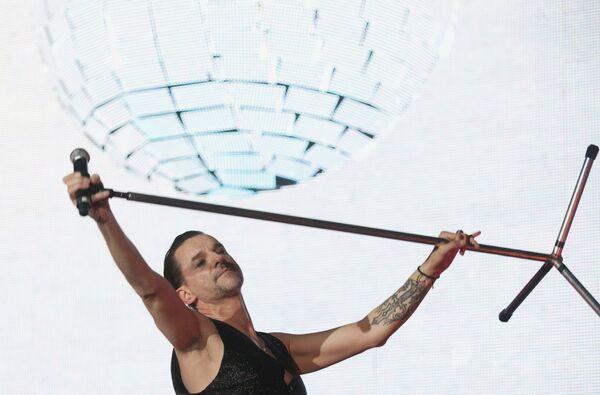 Дэвид Гaан во время выступления в СК Олимпийский