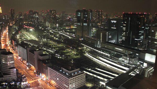 Вид ночного Токио. Архивное фото