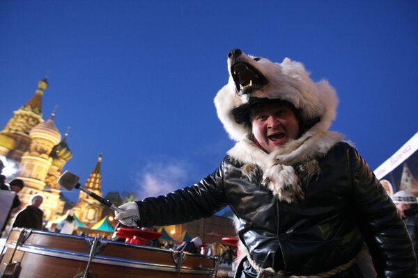 Масленичные гуляния в Москве. Архив