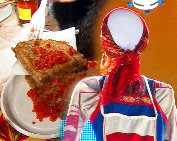 Объедуха на Красной площади - первый день Масленицы
