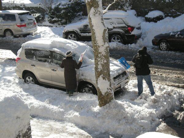 Снегопад в Нью-Йорке. Архив