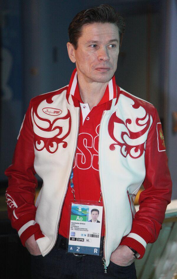 Главный тренер сборной России по хоккею Вячеслав Быков в Ванкувере