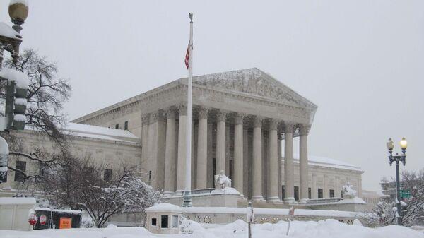 Снегопад в Вашингтоне