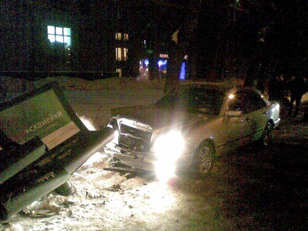 Машина с водителем в милицейской форме сбила женщину в Москве