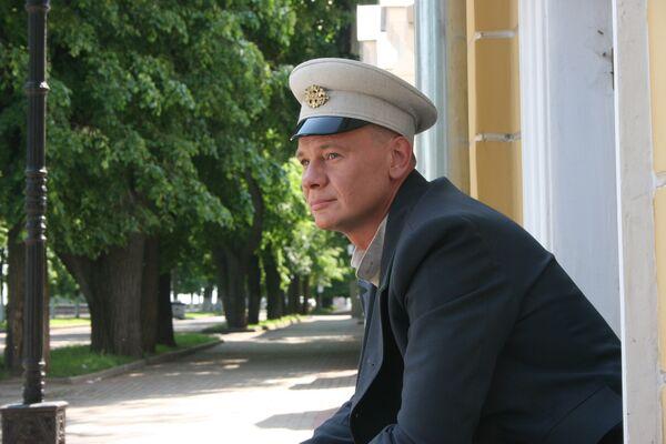 Владислав Галкин на съемках телесериала Котовский
