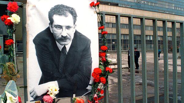 В день гибели Влада Листьева у телецентра Останкино